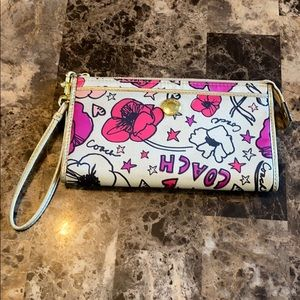 Coach Kyra Poppy Zipper Wallet
